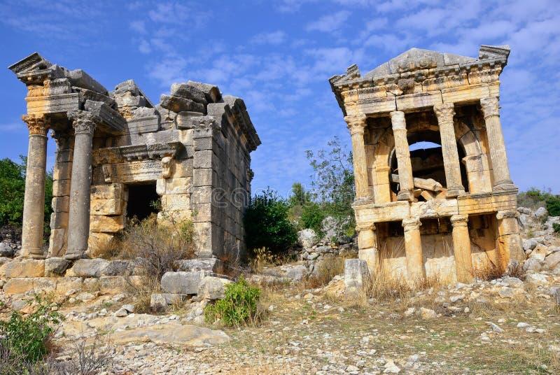 Руины римского города Imbriogon стоковая фотография