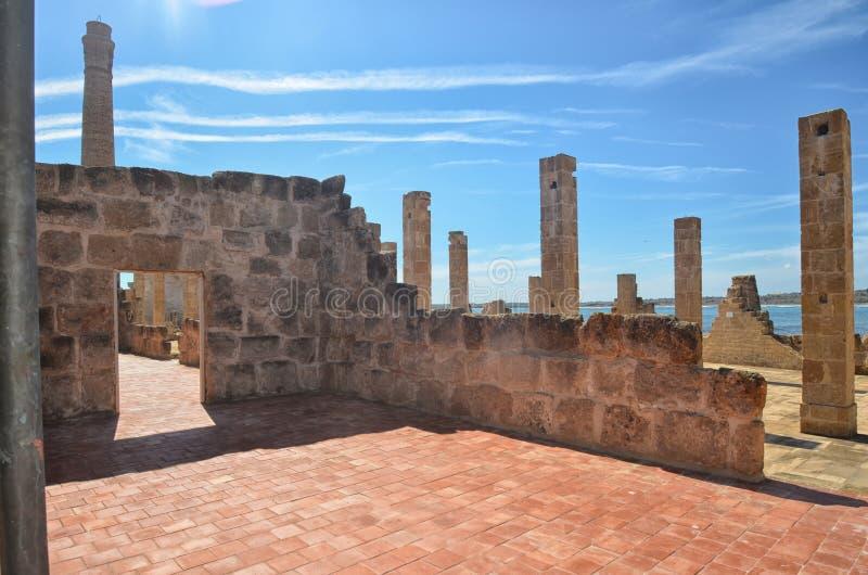 Руины рыбозавода тунца Vendicari стоковые фото