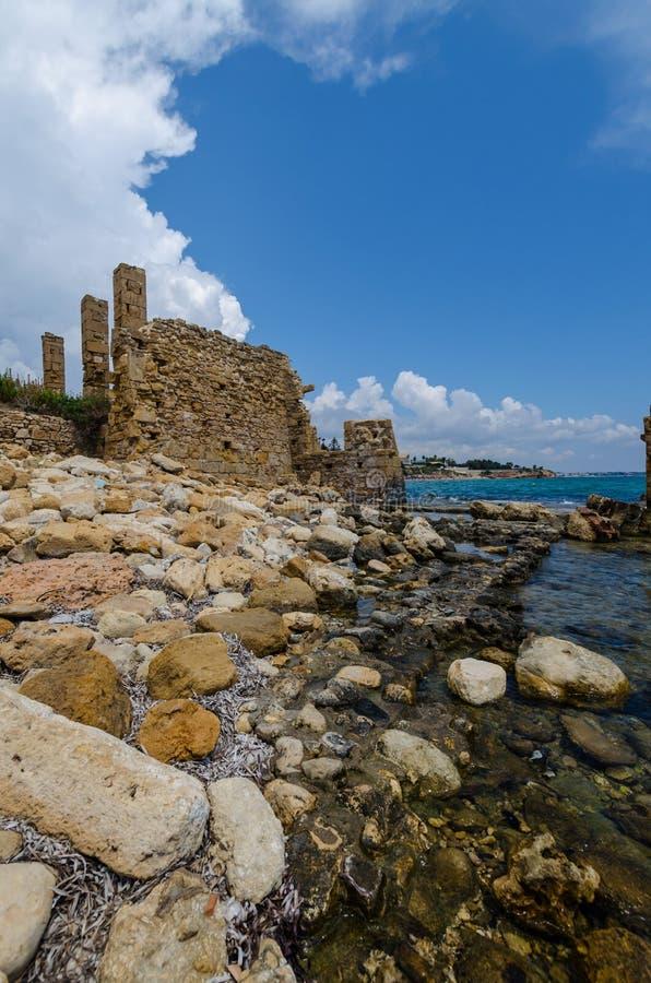 Руины сетей тунца Avola стоковое изображение rf