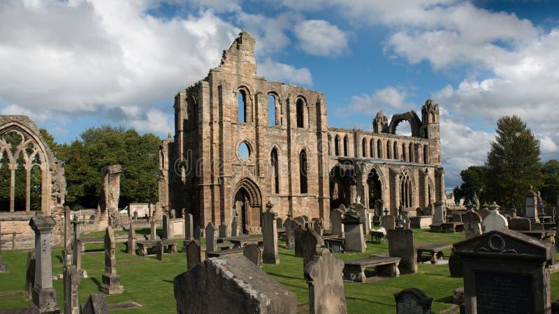 Руины собора Elgin, Шотландия стоковая фотография