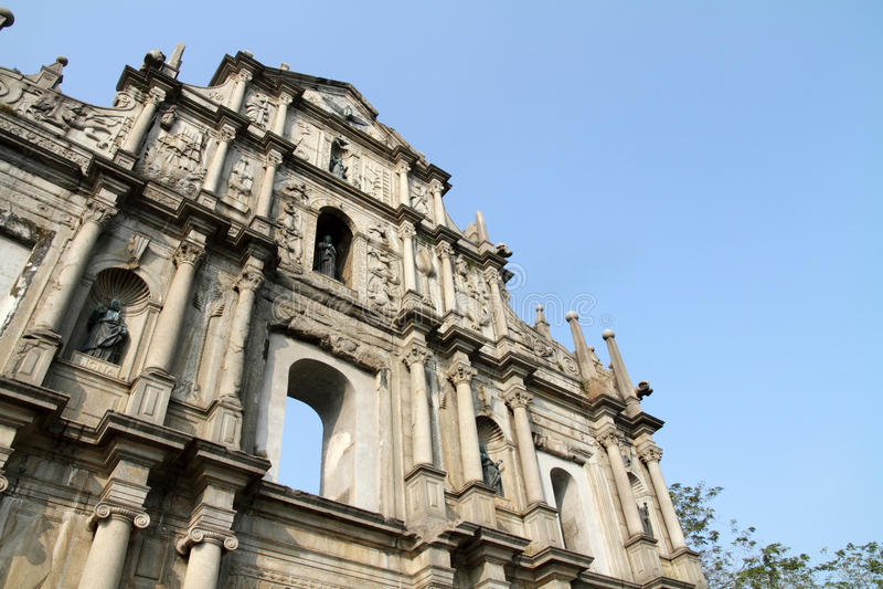 Руины собора St Paul стоковые фотографии rf