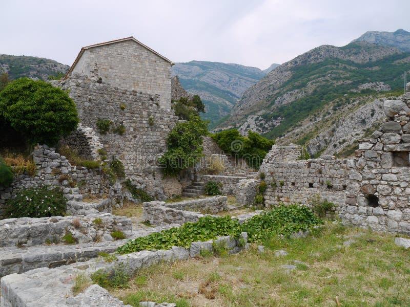 Руины старого бара (бара) Stary, Черногории стоковое изображение