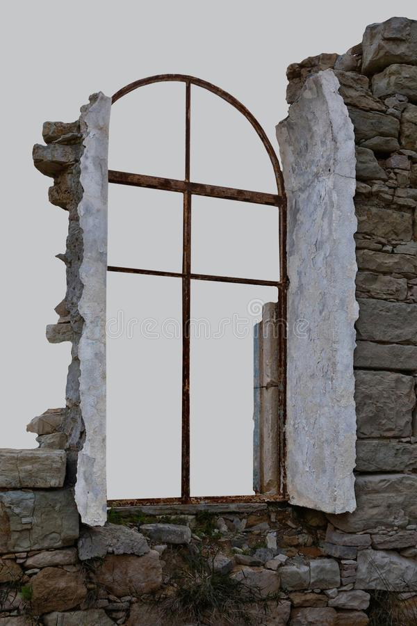 Руины старого дома стоковое изображение rf