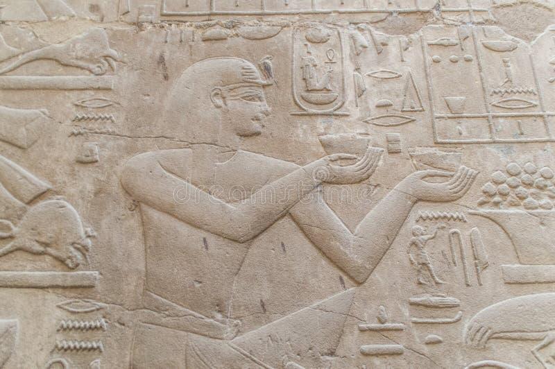 Руины старого египетского виска стоковые фотографии rf