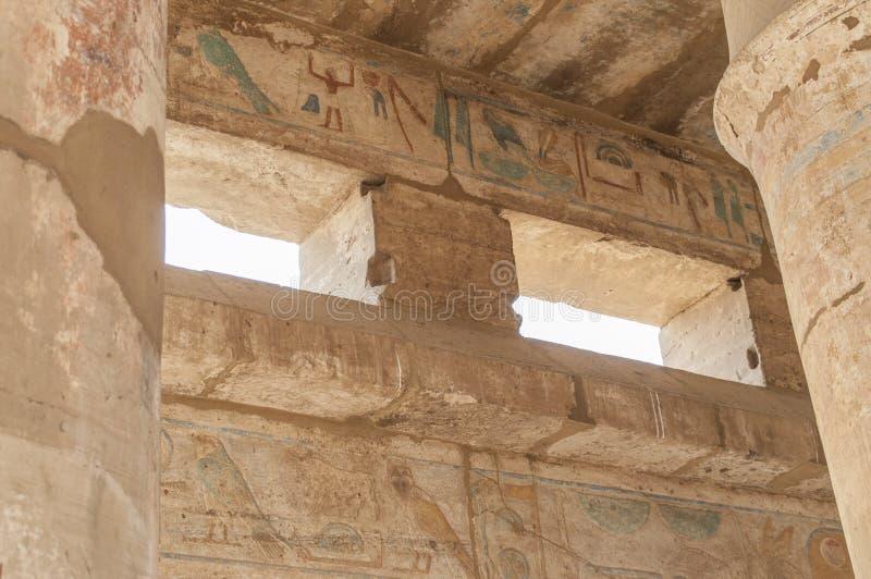 Руины старого египетского виска стоковое изображение