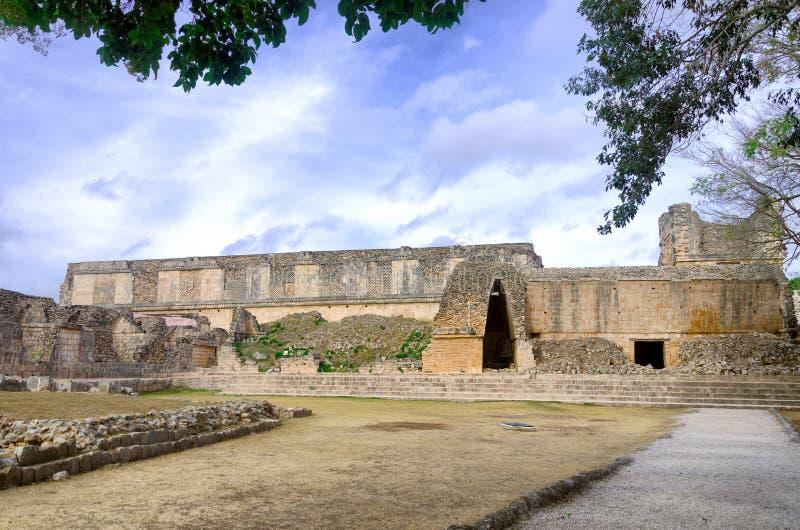 Руины старого майяского города Uxmal стоковое изображение rf