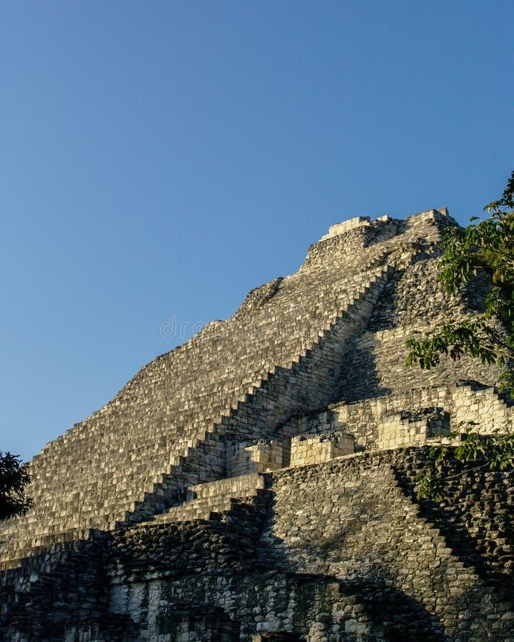 Руины старого майяского города Becan, Мексики стоковые изображения rf