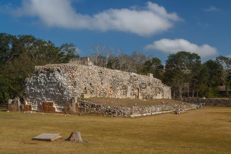 Руины старого майяского города Uxmal стоковые изображения rf