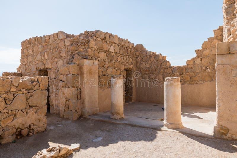 Руины старого Masada стоковая фотография