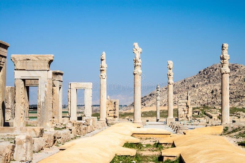Руины старого Persepolis стоковое фото rf