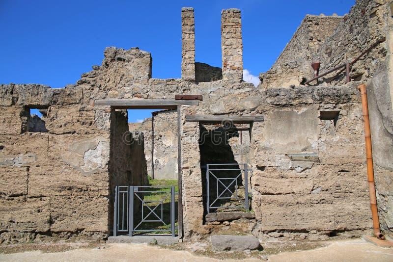 Руины стародедовского города Pompeii стоковое изображение rf