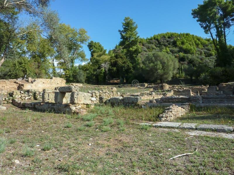 Руины старой Олимпии стоковое изображение rf