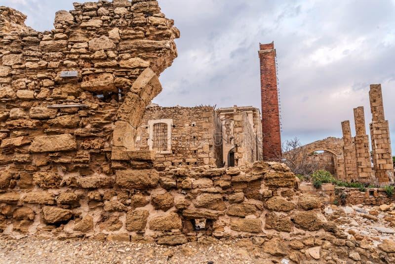 Руины тунец-рыбной ловли Avola стоковое изображение