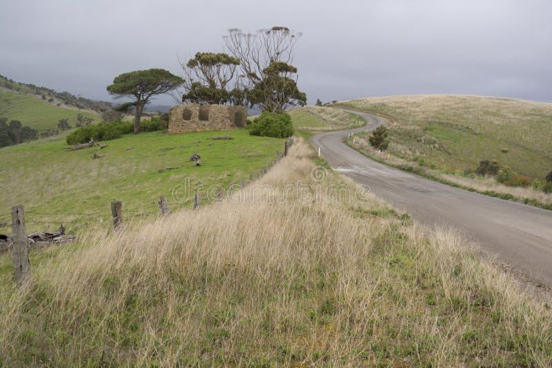Руины усадьбы, полуостров Fleurieu, южная Австралия стоковое фото