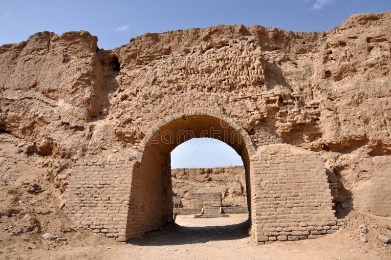 Руины форта Великой Китайской Стены стоковое фото rf
