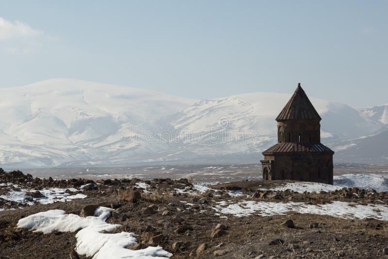 Руины церков в ани, Турции стоковое изображение rf