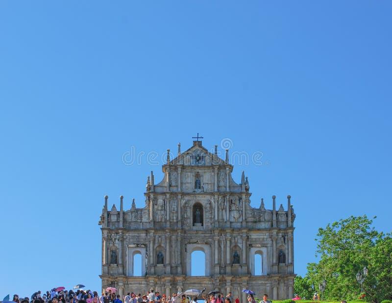 Руины церков ` s St Paul стоковое фото
