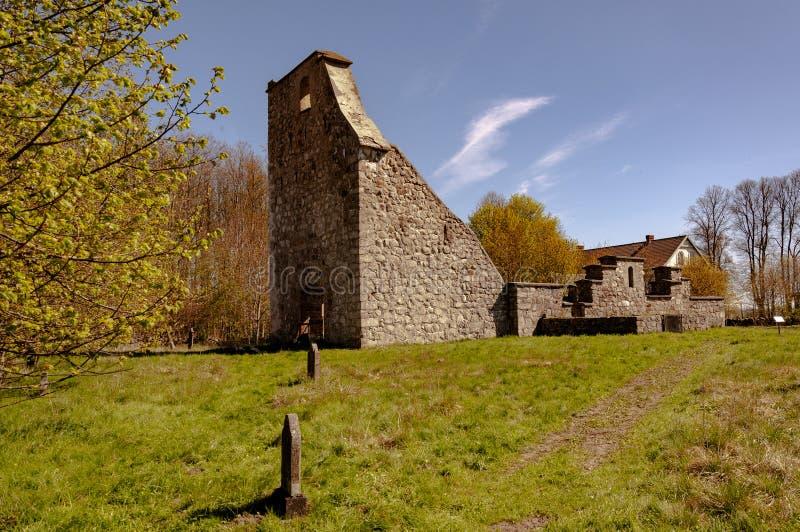 Руины церков Vasterstad стоковая фотография