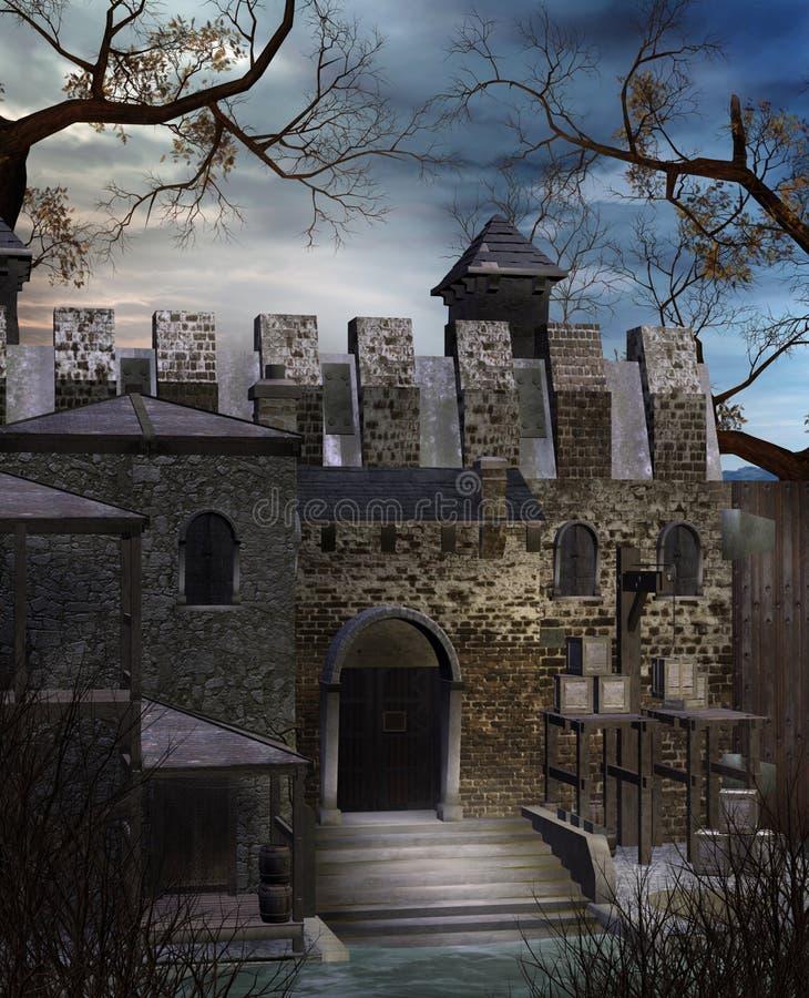 руины 1 замока бесплатная иллюстрация