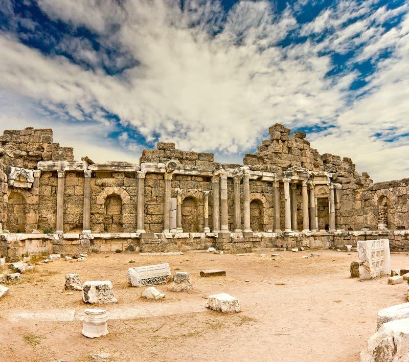 Руины Agora Стоковые Изображения RF