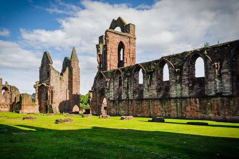 руины arbroath аббатства стоковая фотография