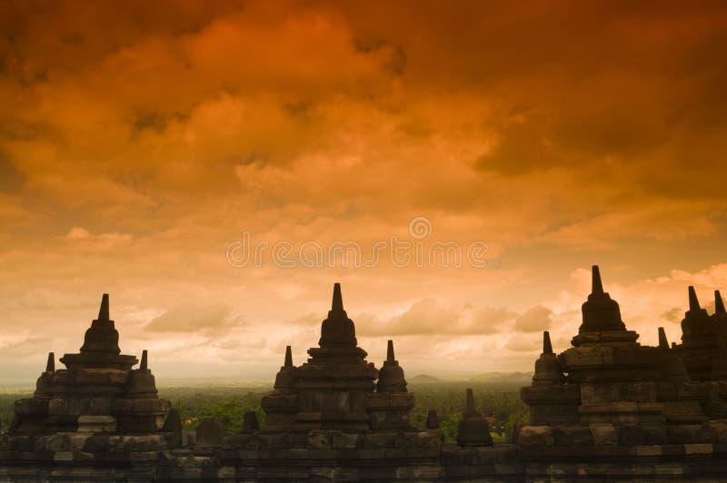 Руины Borobudur стоковое фото rf