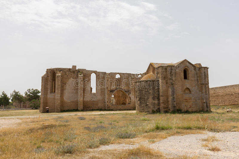 Руины Carmelite и армянских церков в средневековом Famagusta, стоковые изображения rf