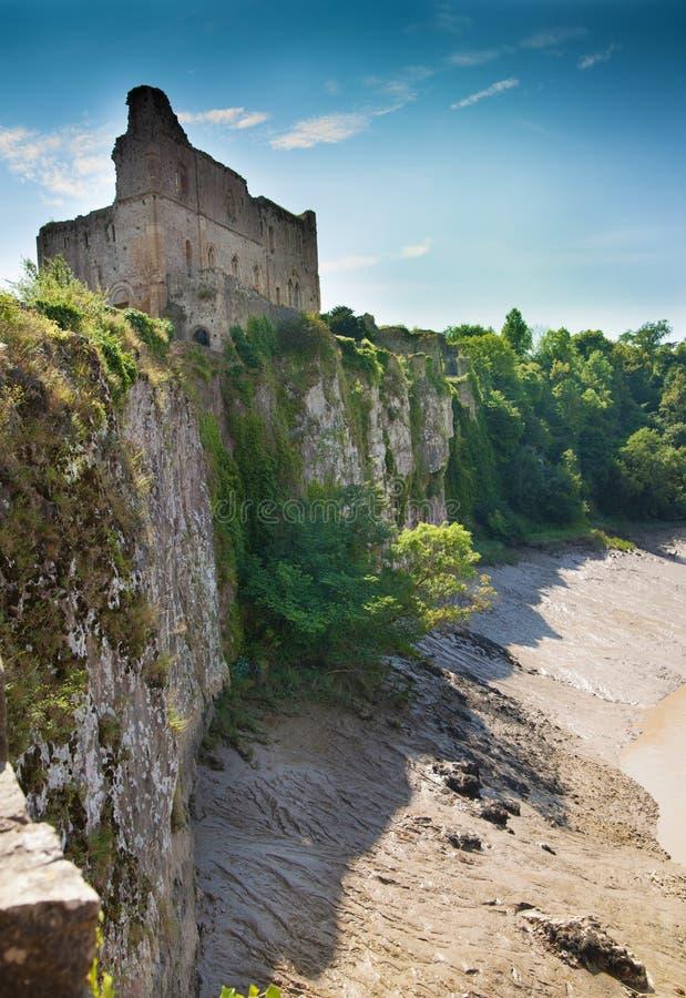 Руины castel Chepstow, учреждение, 1067-1188 стоковые изображения