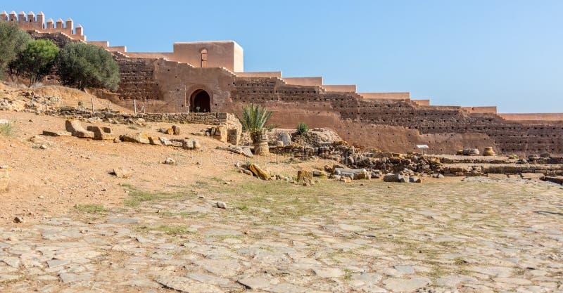 Руины Chellah в Рабате, Марокко стоковая фотография rf