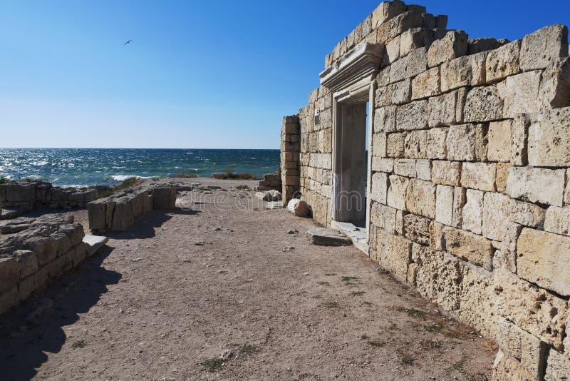 Руины Chersonese Taurian в Крыме стоковая фотография