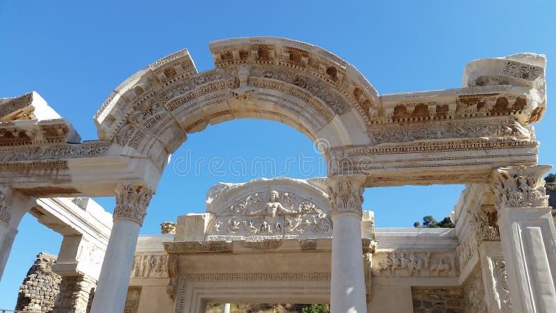 Руины Ephesus древнего города библиотека стоковое фото