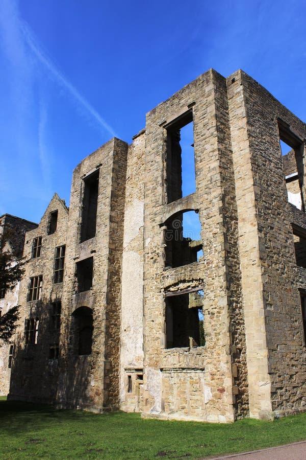 Руины Hardwick старого Hall, Дербишира, Англии стоковое изображение rf