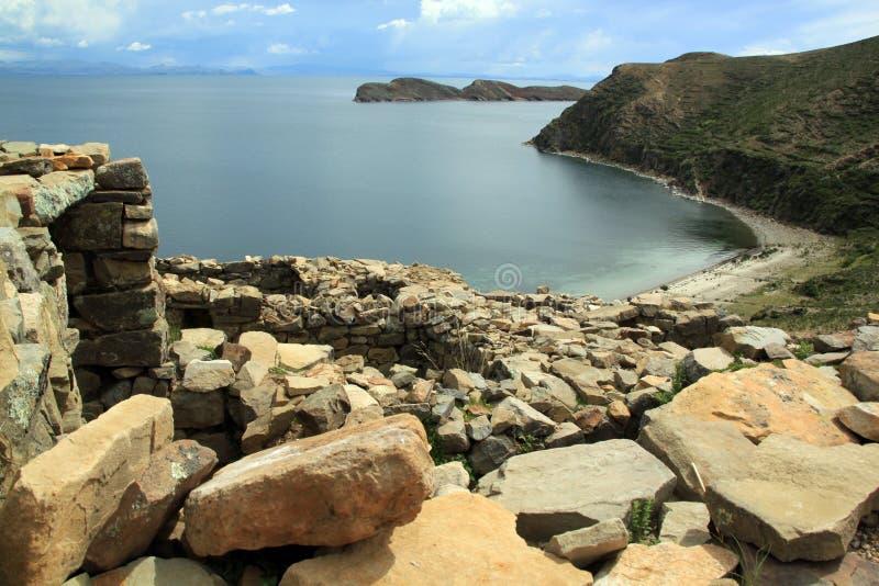 руины inca стоковое изображение rf