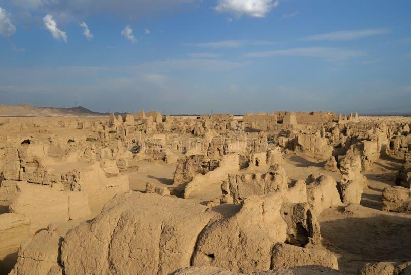 руины jiaohe стоковое фото rf