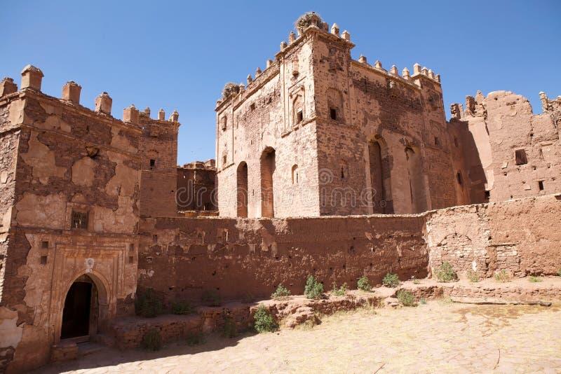 Руины kasbah Telouet стародедовские стоковая фотография