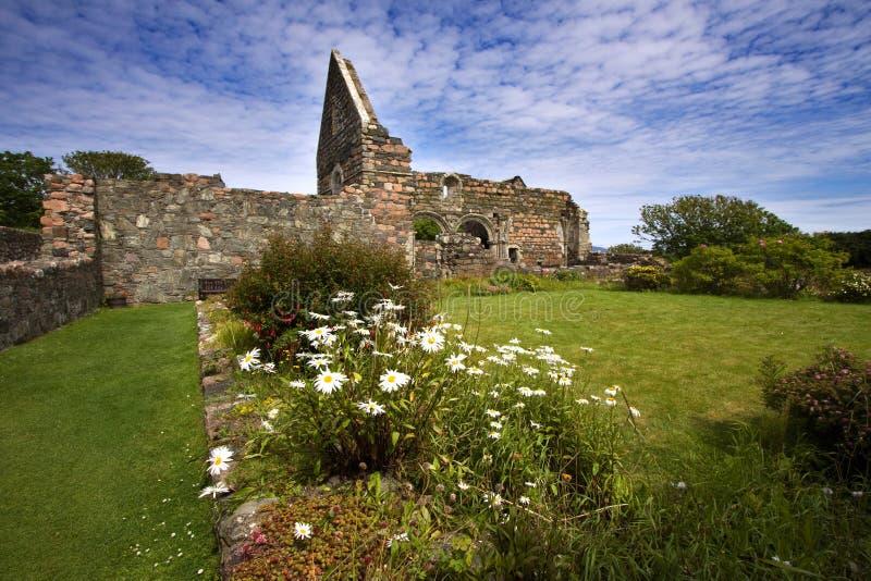 руины nunnery iona стоковая фотография