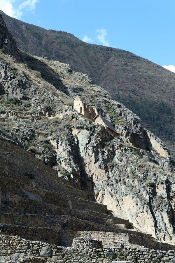 Руины Ollantaytambo, Перу стоковое изображение rf