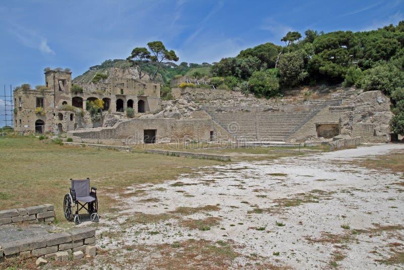 Руины Pausylipon стоковые изображения