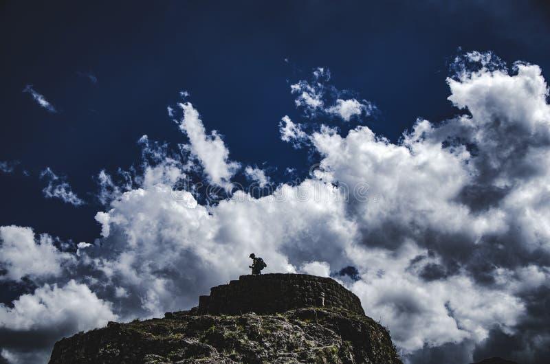 Руины Pisaq, Cusco, Перу стоковые фото