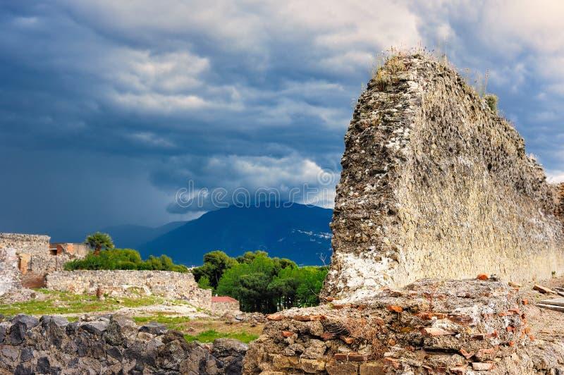 руины pompeii стоковое фото