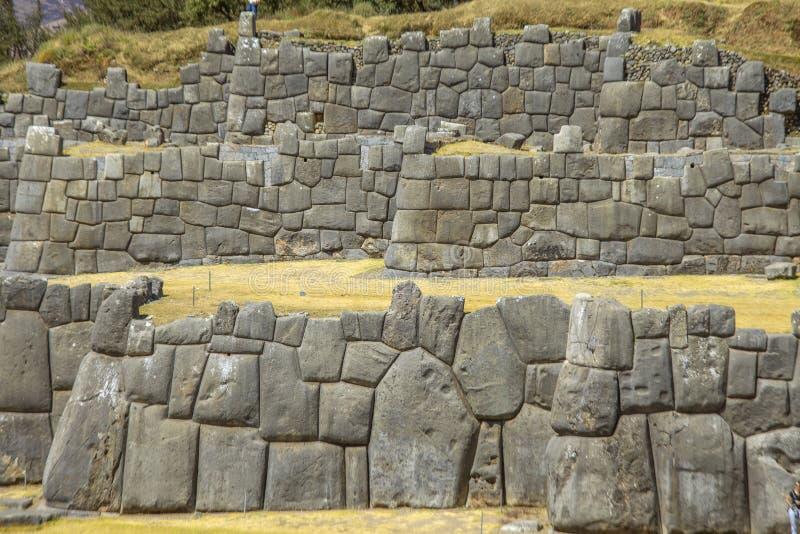 Руины Sacsayhuaman, Cusco, Перу стоковое фото rf
