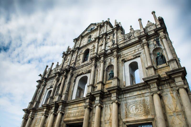 Руины St Paul Макао стоковое изображение rf
