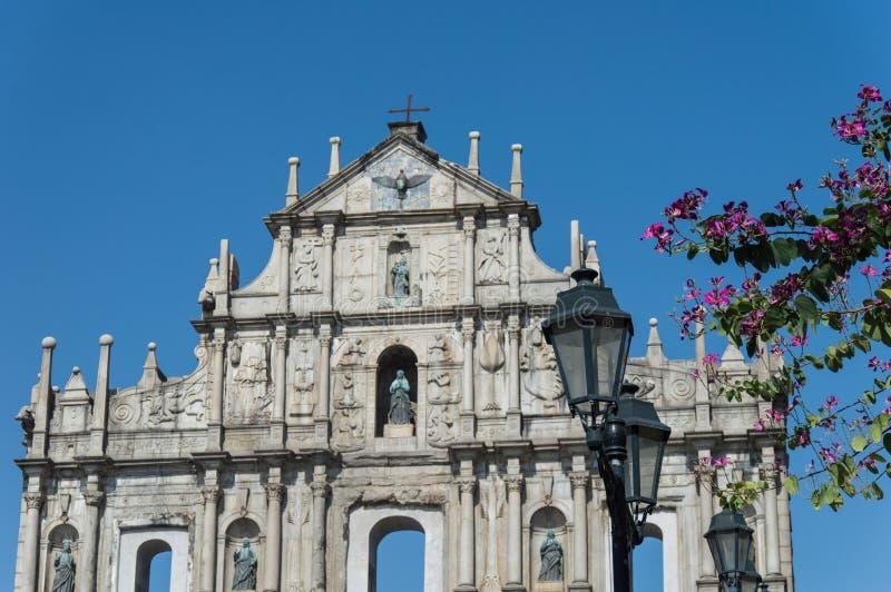 Руины St Paul s в Макао стоковая фотография