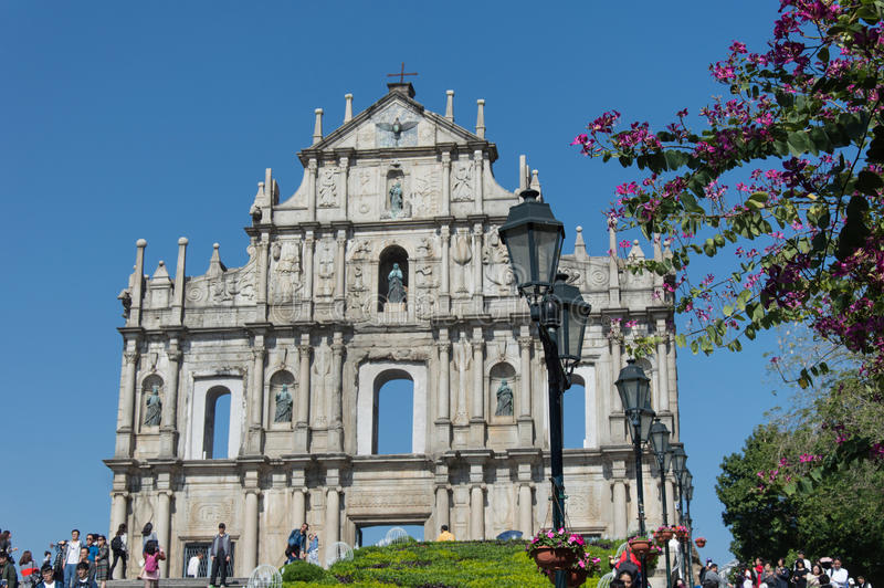 Руины St Paul s в Макао стоковое фото rf