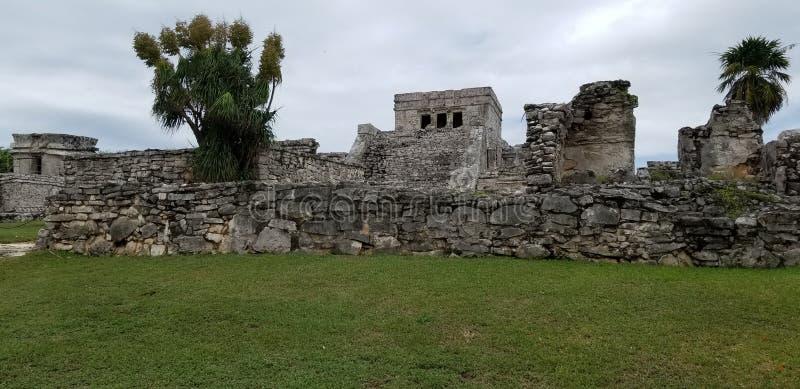 Руины Tulum, Cancun стоковое изображение