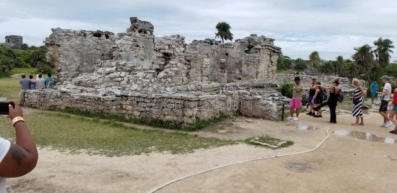 Руины Tulum, Cancun стоковые изображения