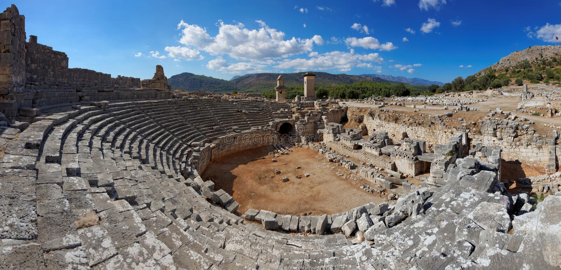 Руины Xanthos, Fethiye-Kas, Турция стоковая фотография
