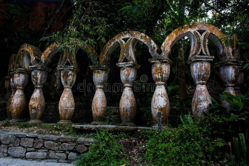 Руины Xilitla в Мексике стоковые изображения