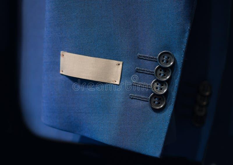 Рукав куртки с ярлыком стоковая фотография rf