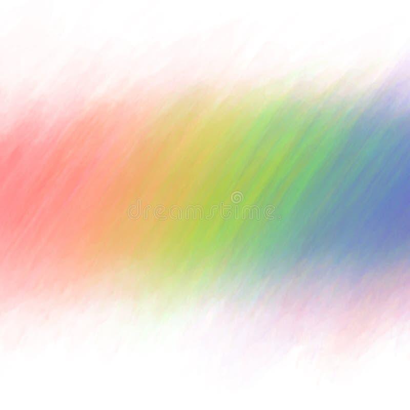Рука акварели выплеска цвета радуги покрасила изолированный на белой предпосылке иллюстрация вектора